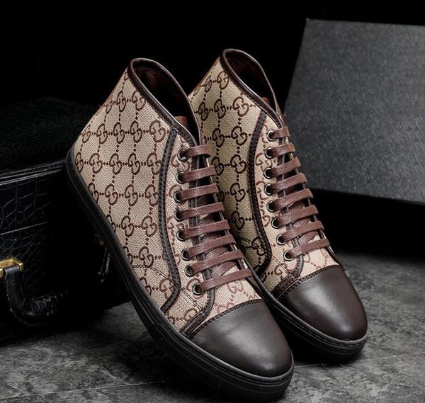 Мужская роскошная мода панк хип-хоп холст высокие мокасины повседневная обувь на