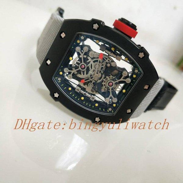 Элитная Выстрел часы RM Top Прозрачное Движение High Grade Nano-керамические композиты Case