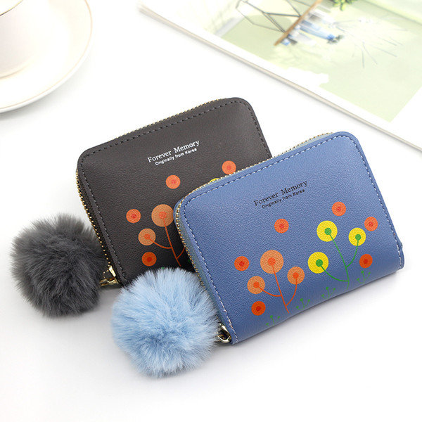 short women's purse women's handbag embroidered purse with zipper little girl's change bag card holder (538941881) photo