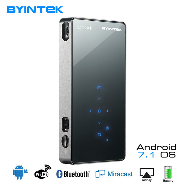 Byintek ufo p8i android 7 1 o pico pocket hd portable micro la er wifi bluetooth mini led dlp projector with battery hdmi u b