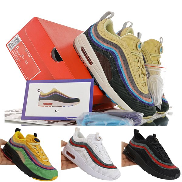 1/97 Sean Wotherspoon Kids Shoes For Boys Girls Baby Running Shoes 2019 Athletic Shoes 97 VF SW Children Sports Sneakers Size 28-35