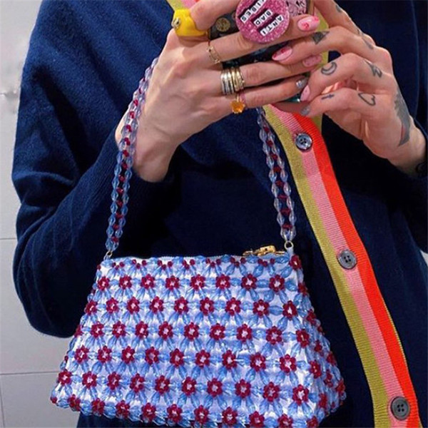 bag 2020 new wild beaded fairy handmade female bag french armpit bags summer fashion casual women purse and handbags sac a main (552010524) photo