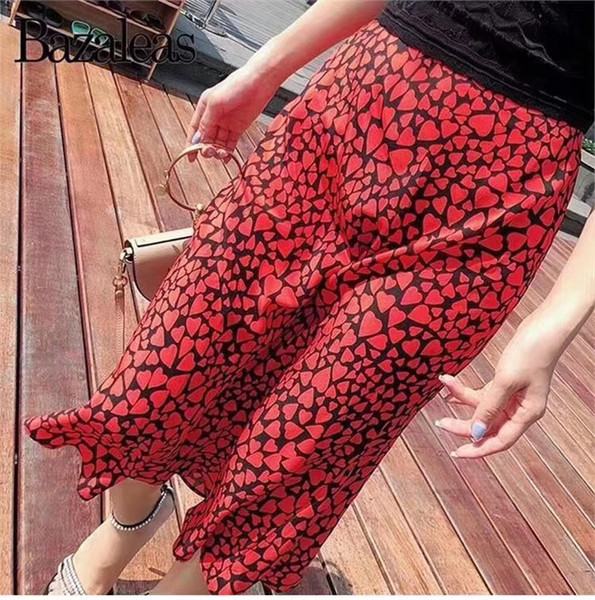 100% Silk women skirt Love pattern print slim wild lady skirt Two color options