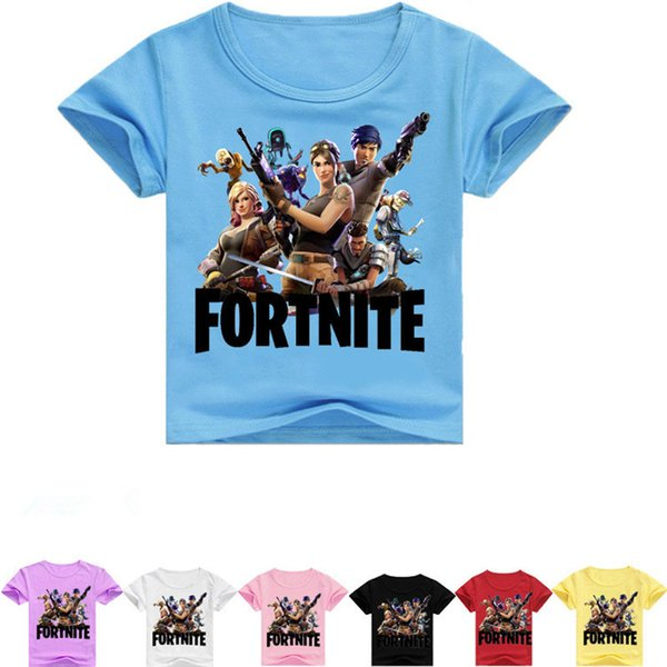 leilar / 63 colors Summer Kids T-shirt Fortnite Battle Royale Comfortable Cotton Short Sleeve T Shirt for Boys Girls Children Clothing T1G077