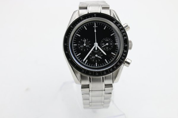 new fashion quartz movement men's super series 3539.50.00 watch black dial stainless steel strap men's sports business watch
