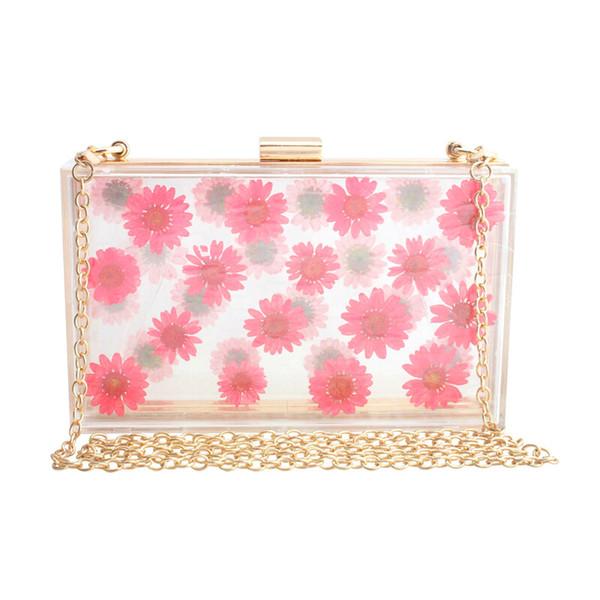 new spring summer women acrylic clear bag purse cute transparent crossbody bag women handbags party wedding evening clutch purse (535530178) photo