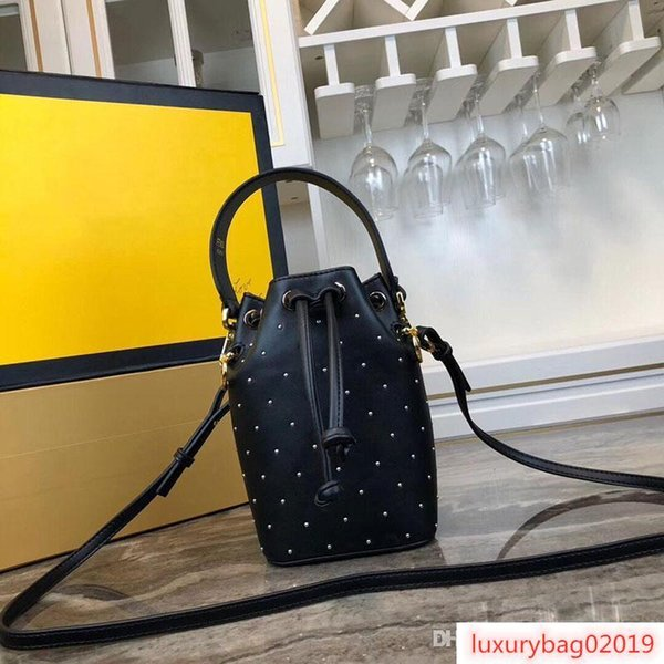 designer bags bucket purse shoulder bag mini find purse bag genuine leather rivet design purses bag women fashion shoulder purses (512355470) photo