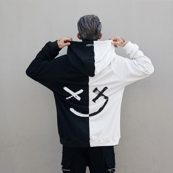 DJ Marshmello граффити дьявол черно-белая Строчка Толстовка Мужчина / Женщины хип-хоп Bbo