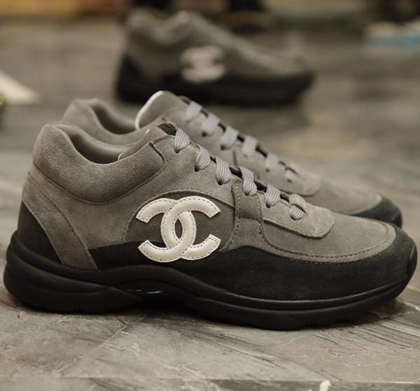 2019 Новый стиль роскошные кроссовки нейлоновые замшевые туфли из телячьей кожи же