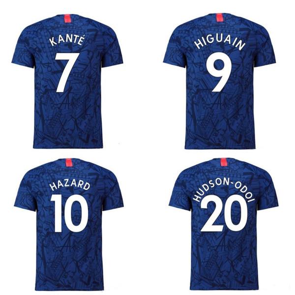 2019 2020 The Blues soccer jerseys kids kits HAZARD JORGINHO GIROUD football shirts KOVACIC WILLIAN DAVID HUDSON 19 20 home blue soccer tops