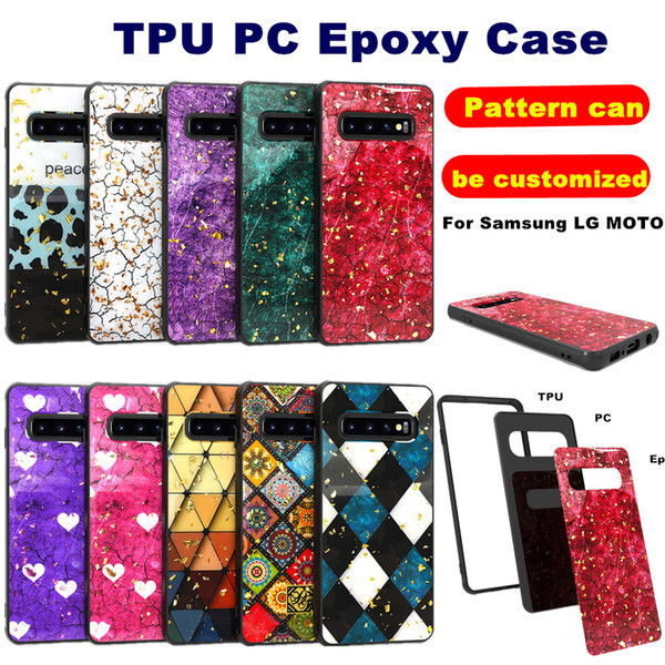 Epoxy ca e for iphone x  max 7 8  am ung galaxy  10 e plu  moto g7 power play lg  tylo 5 k40 coolpad legacy tpu pc 2 in 1 hybrid armor cover