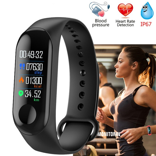 M3 mart band colorful touch creen wri tband fitne tracker mart watch port bracelet blood pre ure heart rate monitor