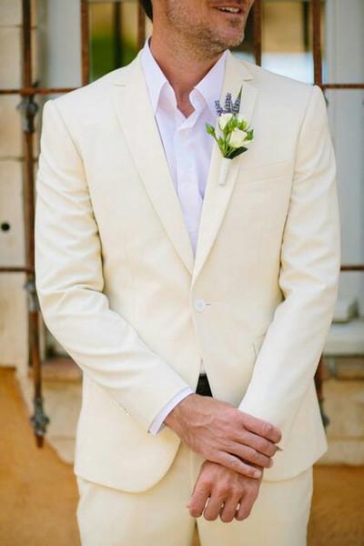 Белье пальто брюки Мужские свадебные костюмы человек пиджаки куртка классический повседневная жених смокинги 2 шт. Summe пляж свадебный костюм Homme Mariage фото