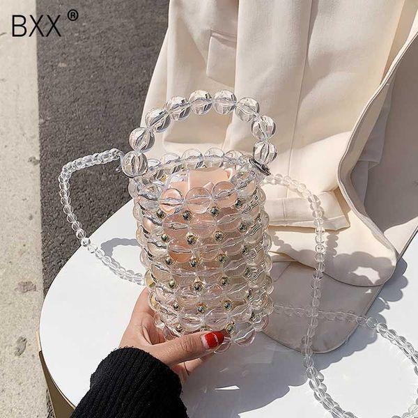 [bxx] 2020 luxury pearl bag for women chic handmade beading evening clutch purses and handbag ladies messenger bags dinner hl701 (534149488) photo
