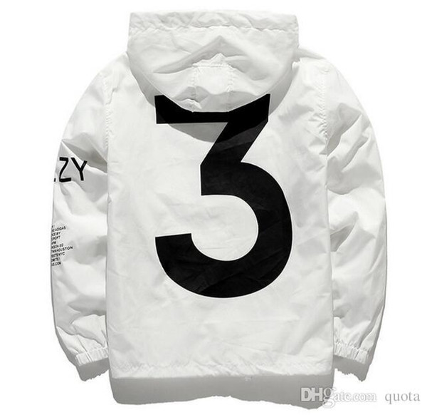 Brand New Designer Jacket Fashion Windbreaker Season 3 Mens Jackets Clothing Men Women Hooded Skateboard Streetwear Men Clothes