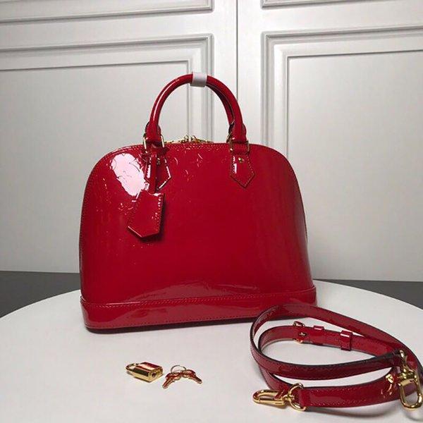 candy bag replica alma shell bags patent leather shoulder handbag genuine leather crossbody bag fashion lady purse with original box (483613346) photo