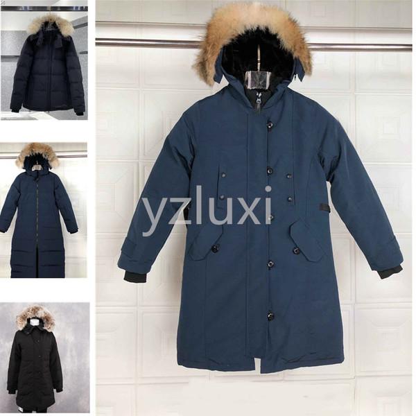 The Women's Down jacket Down & Parkas Real Raccoon Fur Collar White Duck Outerwear & Coats women of fashion coat