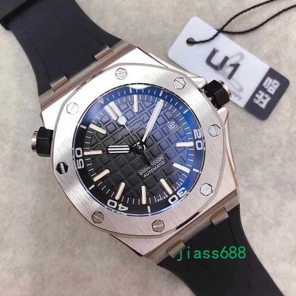 Limited royal oak off hore diver automatic mechanical movement watche tainle teel black watch 15703 men wri twatch