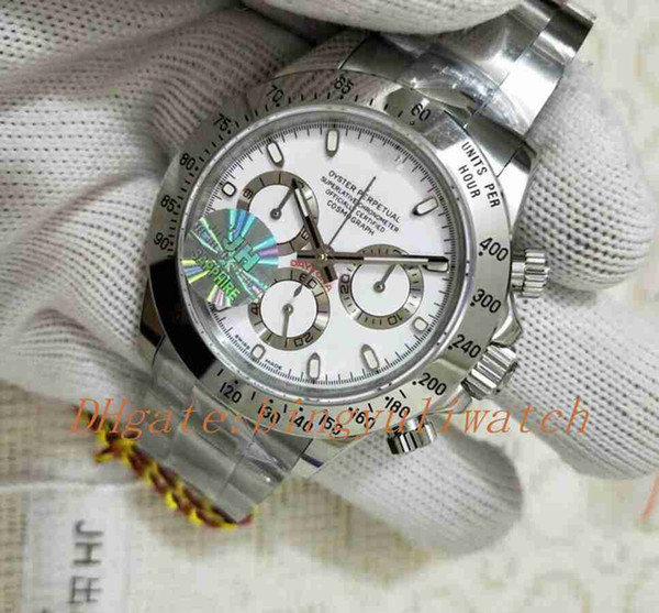 Jhf завод 116520 мужские автоматические 40 мм Eta 4130 движение часы мужчины нержавеющая с