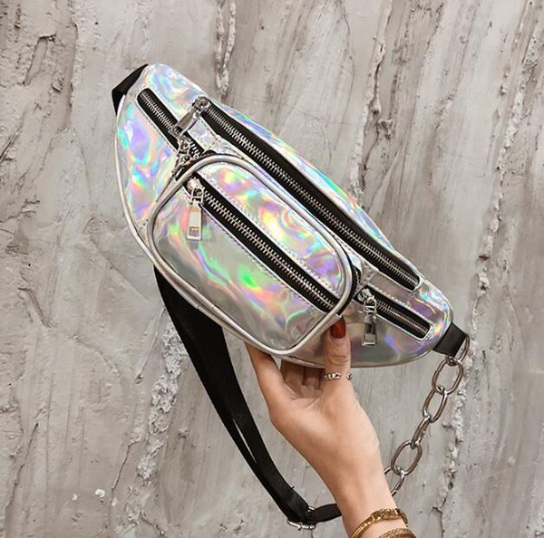 wholesale handbags purses wholesale women waist bag pu new fashion crossbody bag laser shoulder bags (546345582) photo