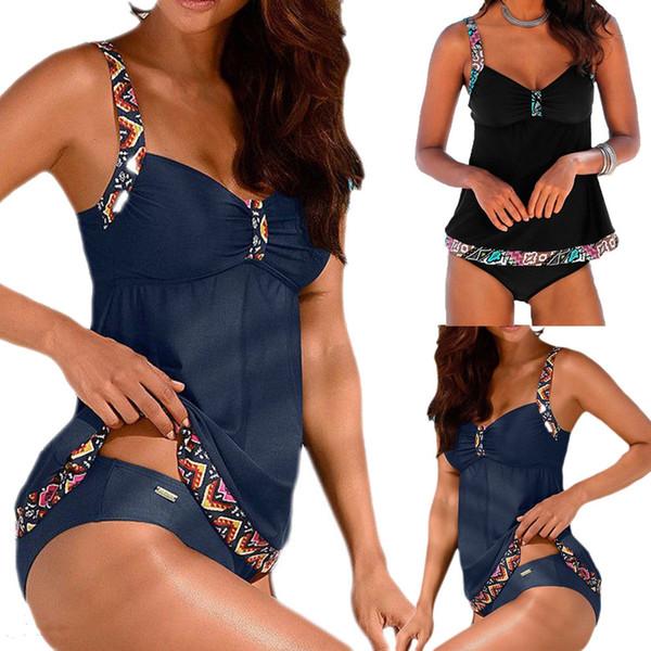 summer fashion women tankini swimdress swimsuit beachwear swimwear bathing bikini two piece suits s-xxxl plus size