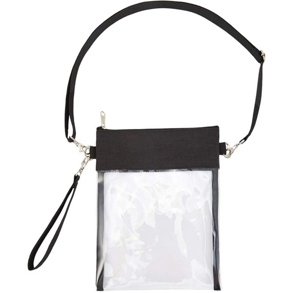 clear cross-body purse bag clear stadium bag approved for concert,casino, purse with adjustable strap (550345086) photo