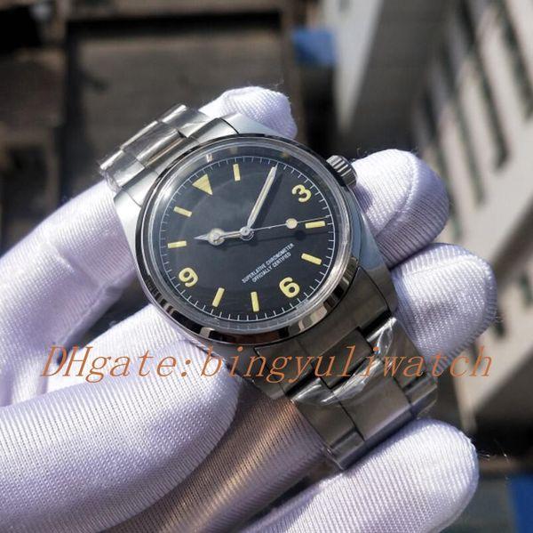 Роскошные Часы Классик 36мм 3 6 9 Old Style Series Мужские часы Автоматическая Рождество Кл
