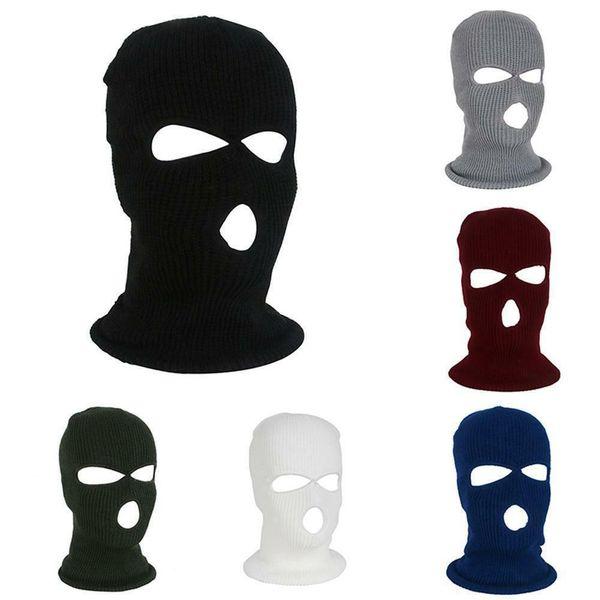 army tactical mask 3 hole full face mask ski mask winter cap balaclava hood new
