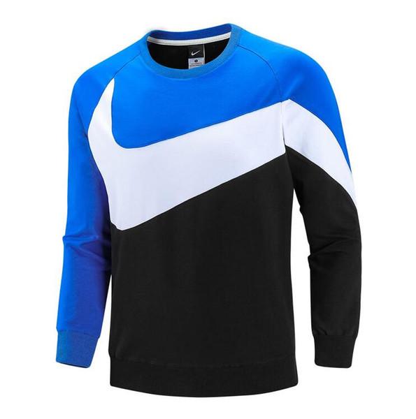 Новые осенние лоскутные мужские дизайнерские толстовки пуловер с длинным рукаво