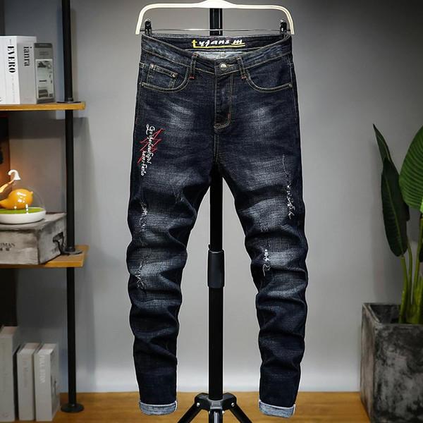 Мужская одежда 2020 роскошные дизайнерские джинсы, квадратные джинсы, мужские духи, мотоциклисты, высокая талия туго натянутая прямая фото