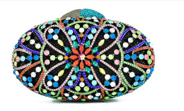 xiyuan new style purse multi color bag women crystal diamond clutch purse evening purses and handbags party dinner evening bag (547977580) photo