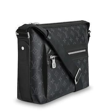 M44223 Odyssey Messenger Pm Men Real Caviar Lambskin Le Boy Chain Flap Bag Handbags Shoulder Messenger Bags Totes