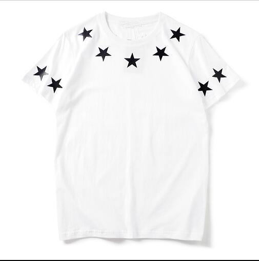 Luxury mens designer t shirts with stars fashion brand summer t shirts for men new short-sleeve tees clothing s-xl фото