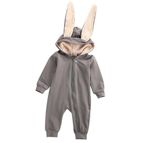 Новый зимний детский комбинезон малыш младенческая Девочка Мальчик 3D ухо комбинезон Комбинезон комбинезон костюм костюмы одежда фото
