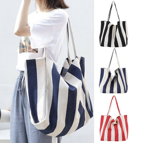 2019 new fashion women handbag shoulder bags canvas striped tote purse messenger hobo satchel bag casual (491758222) photo