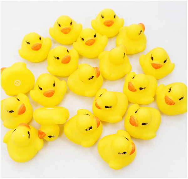 1000pcs Baby Bath Water Toy Toys Sounds Yellow Rubber Ducks Kids Bathe Children Swimming Beach Gifts Gear Baby Kids Bath Water Toy Zf 001