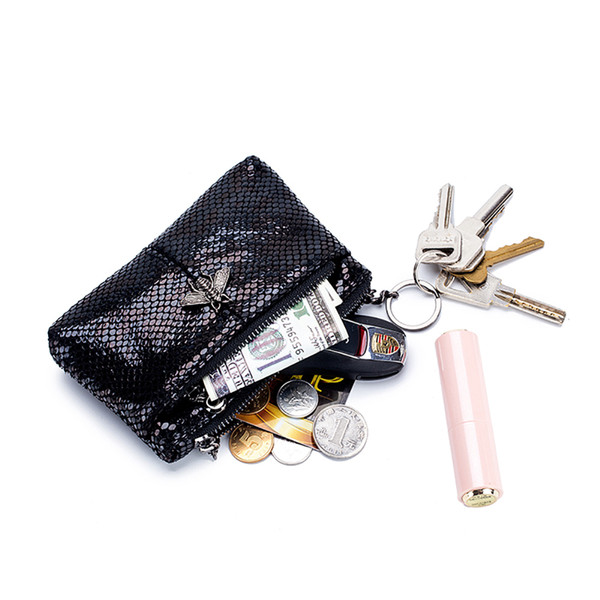 ladies real leather wallets coin pouch girl's cute coin purse snake pattern women genuine leather keychain change purse bag (454939001) photo