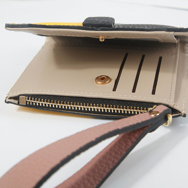 women zipper short wallet pu leather protector cards money coin holder wallet purse ka-best (466237593) photo