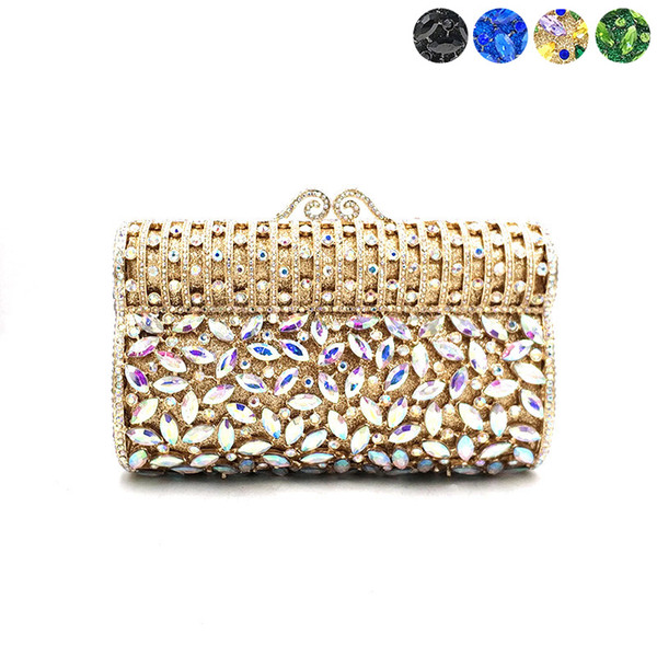 fashion women evening party handbag diamonds hollow out purses luxury crystal clutches bridal wedding party classical purses bag (514012825) photo