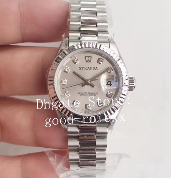 28 мм WF завод Ladys автоматические часы женские часы Eta 2671 движение 279175 сталь дамы Dateju фото