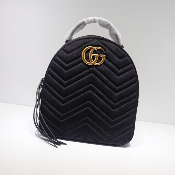 Top-Qaulity 524568 размер 22.5cm * 26cm * 11cm Италия Дизайнерская мода Рюкзак сумка Шелковая подк
