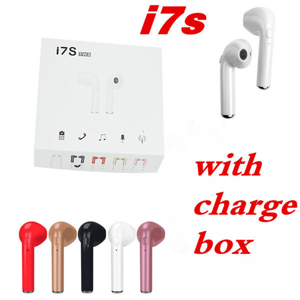 I7 i7  tw  wirele   bluetooth earbud  twin  headphone  earphone headphone for android  am ung  mart phone with charge box