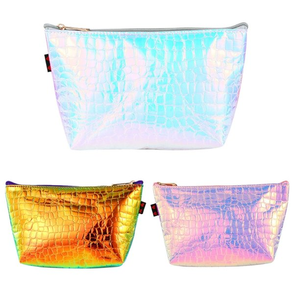 thinkthendo new hologram holographic pencil pen case bag cosmetic makeup storage bags purse 2018 fashion make up bag for girl (485533829) photo