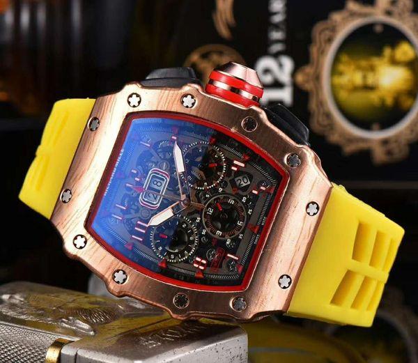 Лучшие Роскошные Высококачественные Мужские Часы Кварцевый Хронограф Tag Мужские Наручные Часы Резиновый Ремешок Спортивные Мужские Часы Мужские Наручные Часы фото