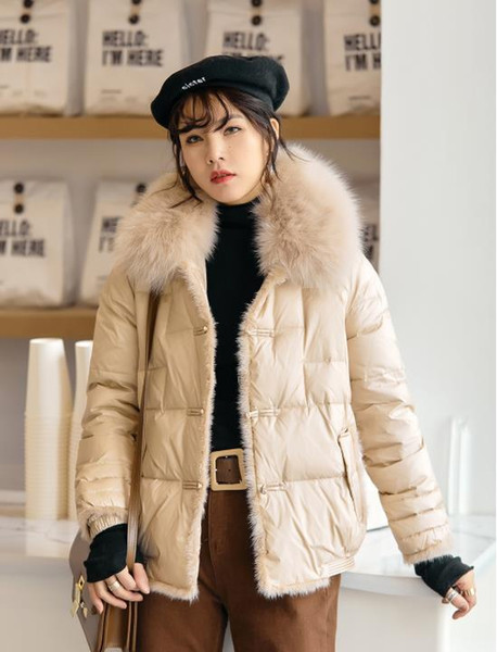 Women Winter Jacket Ladies Real Raccoon Fur Collar Duck Down Inside Warm Coat Femme With All The Tag Slim Fit Find Similar Plus Size