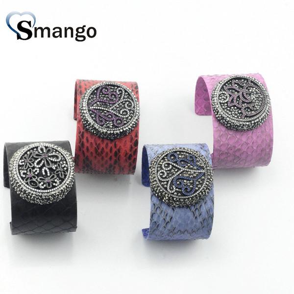 bracelets_5pcs_pour_des_femmes,_bracelets_colorés_de_peau_de_serpent_de_conception_de_caractères