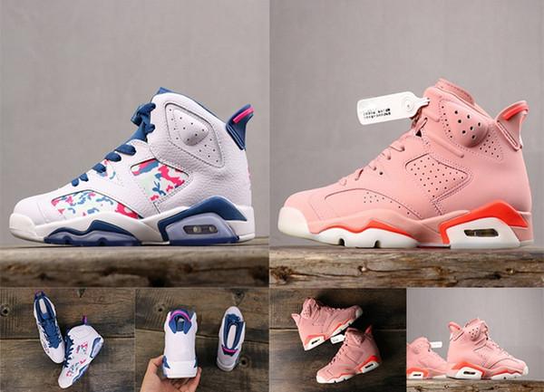2019 Millennial Pink 6S VI OG баскетбольные кроссовки женские 6 GS White Green Abyss кроссовки 6s GS Распр фото