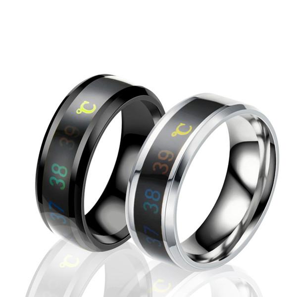 2020 европейская и американская мода мужская кольцо смарт температура температура пара кольцо сексуальное кольцо из нержавеющей стали фото