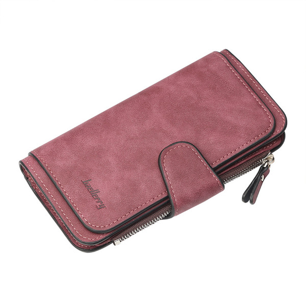 new wallet women big capacity three fold lady purses scrub leather female wallets carteira feminina (525327932) photo