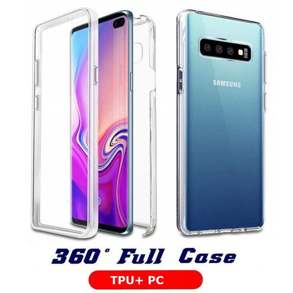 360 degree full body tran parent tpu pc clear ca e  lim cover for iphone x  max xr 8 7 6 plu   am ung  10 plu   10e a30 a50 a70  9 note 9